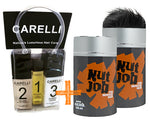 Nut Job Black Hair Fibres and Carelli Travel Pack Combo - SAVE when you buy in BULK!