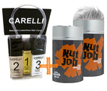 Nut Job Light Grey Hair Fibres and Carelli Travel Pack Combo - SAVE when you buy in BULK!