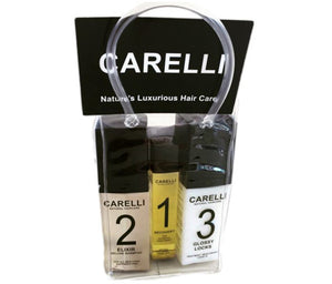 Nut Job Medium Brown Hair Fibres and Carelli Travel Pack Combo - SAVE when you buy in BULK!