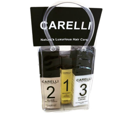 Carelli Travel Size Shampoo Conditioner and Oil for Healthy Hair Regrowth