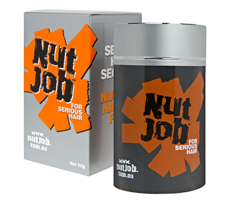 Nut Job Dark/Medium Grey Hair Fibres plus Small Travel Size - Buy 3, Get Travel Size FREE!