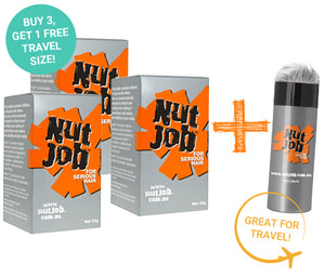 Nut Job Light Grey Hair Fibres plus Small Travel Size - Buy 3, Get Travel Size FREE!