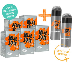 Nut Job Dark/Medium Grey Hair Fibres plus Small Travel Size - Buy 5, Get 2 x Travel Size FREE!