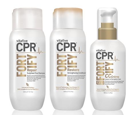 CPR Fortify Restore Strengthening Shampoo Conditioner and Hair Treatment