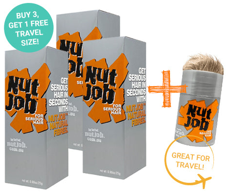Nut Job Blond Hair Fibres plus Small Travel Size - Buy 3, Get Travel Size FREE!