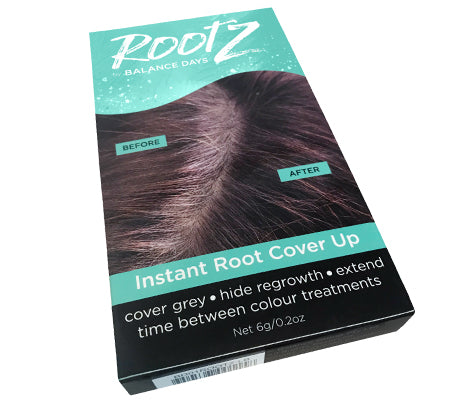 RootZ Instant Grey Root Cover Up And Hair Loss Concealer Medium Brown