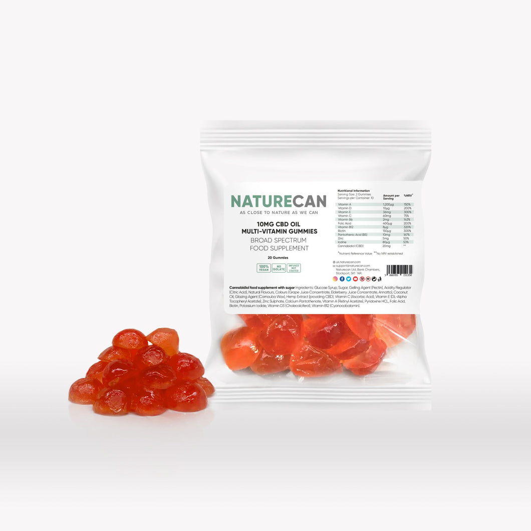 Vegan CBD Oil Multi-Vitamin Gummies