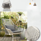 FarrGo All Weather Bistro Funiture Patio Cushioned Balcony Chair,Table and Footrest
