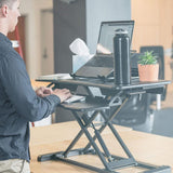 FarrGo Waterproof Foldable Computer Desk Double-layer Shelf with Tablet & Phone Holder