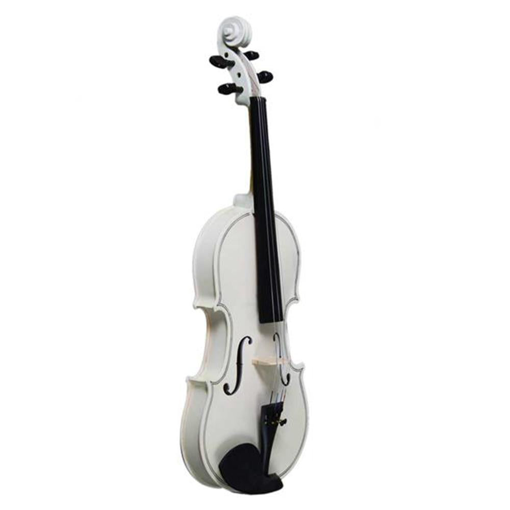 FarrGo New 4/4 Acoustic Violin Case Bow Rosin White