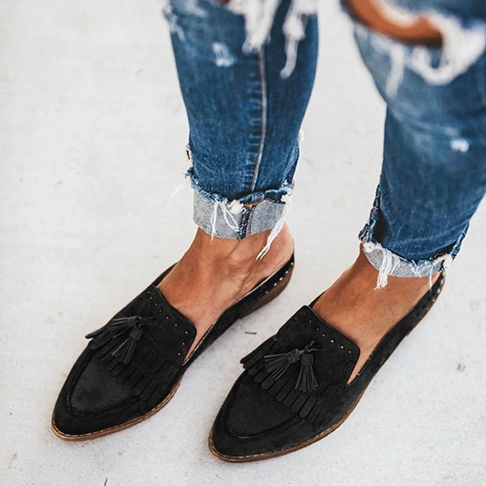 FarrGo Mule Flats Slip On Backless Loafers