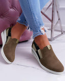 FarrGo Color Block Slip On Wedge Sneakers
