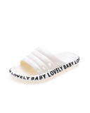 FarrGo Lovely Baby Letter Printed Solid Color Comfortable Hollow-out Slides