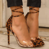 Yearnshoes Lace Up Sexy Stiletto High Seels Pumps