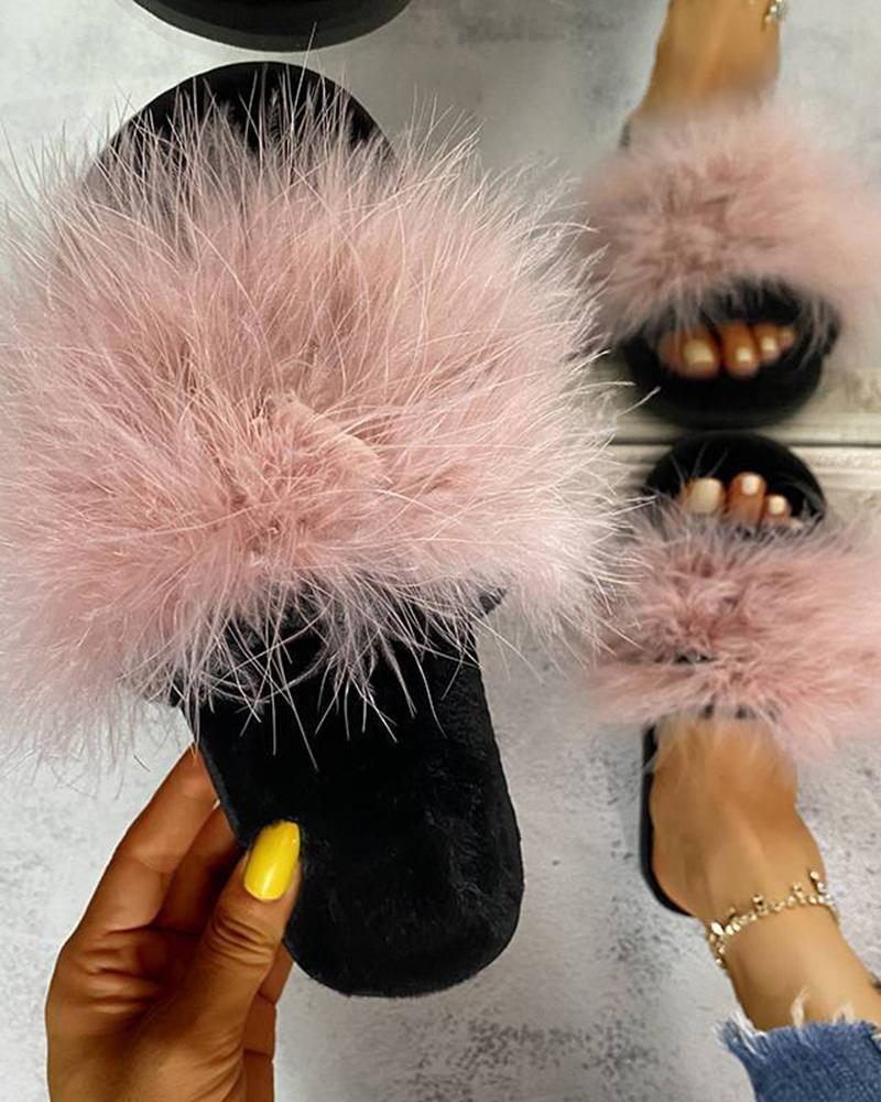 Yearnshoes Cute Plush Indoor Slippers