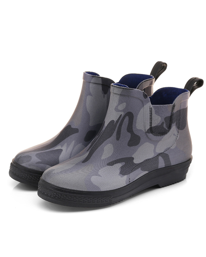 FarrGo Non-slip  camouflage waterproof   Low barrel  Breathable Boots