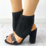 Yearnshoes High Top Fashion Comfy Chunky Heel Sandals