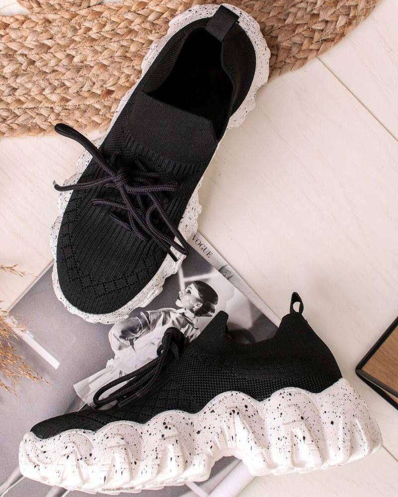 FarrGo Lace-up Platform Breathable Sneakers