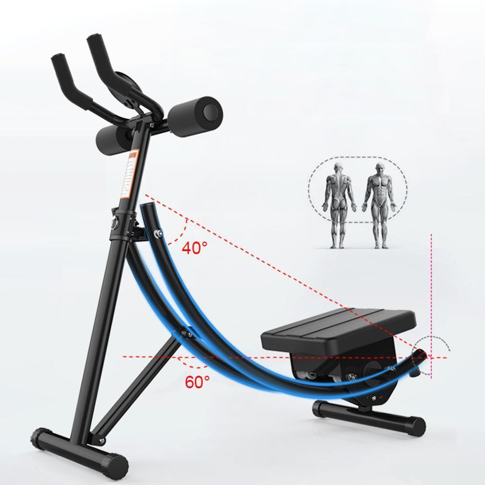 Yearnshoes Core & Abdominal Trainers Ab Coaster MAX Ab Machine Exercise Equipment for Home Gym, Less Stress on Neck & Back