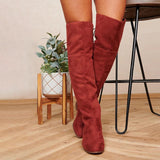 FarrGo Thigh High Boots Over The Knee Stretch Fashion Long Boots