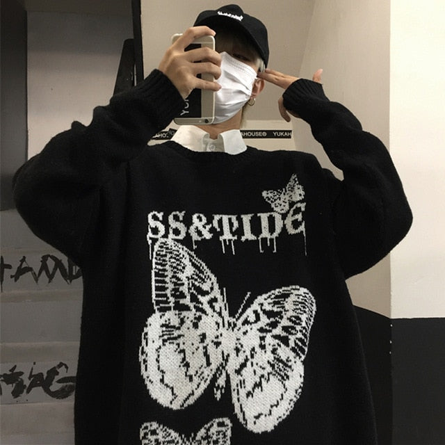 Butterfly Oversized Sweater