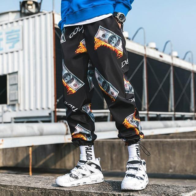 Money On Fire Joggers - eboyngirl