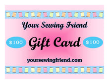 Load image into Gallery viewer, Your Sewing Friend downloadable gift card
