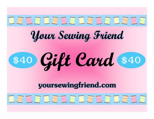 Your Sewing Friend downloadable gift card