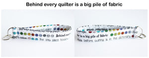 Keychain wristlets with fun quilty sayings