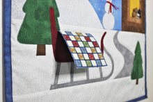 Load image into Gallery viewer, Wondrous Winter applique wall quilt pattern