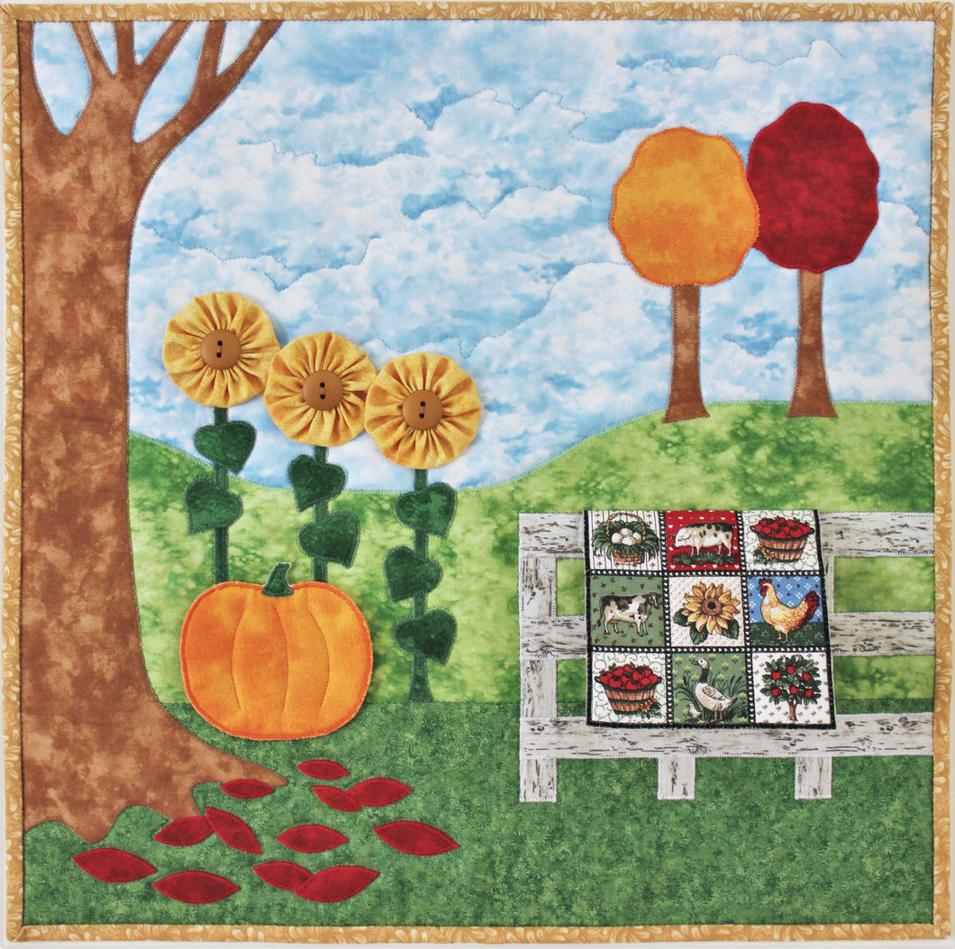 Fabulous Fall applique wall quilt pattern