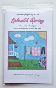 Splendid Spring applique wall quilt pattern