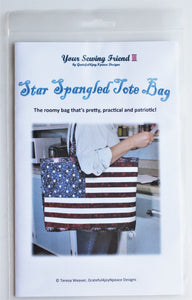 Star Spangled Tote Bag pattern