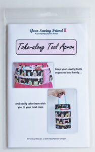 Take-along Tool Apron pattern for sewing and crafting tools