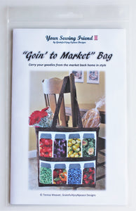 Goin' to Market canning jars tote bag - pattern only