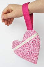 Load image into Gallery viewer, All My Love heart wristlet purse pattern