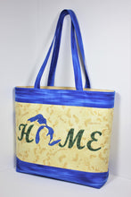 "Load image into Gallery viewer, ""Love MI Home"" Michigan tote bag pattern"