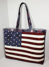 Load image into Gallery viewer, Star Spangled Tote Bag pattern