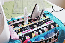 Load image into Gallery viewer, The Sewing Mat Bag includes a small pressing area for your convenience.