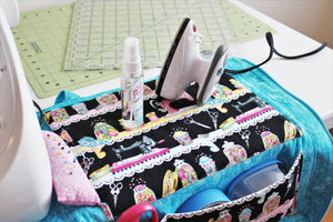 The Sewing Mat Bag includes a small pressing area for your convenience.