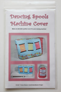 Dancing Spools sewing machine cover pattern