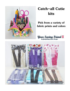 Catch-all Cutie complete kit for sewing organizer zipper bag
