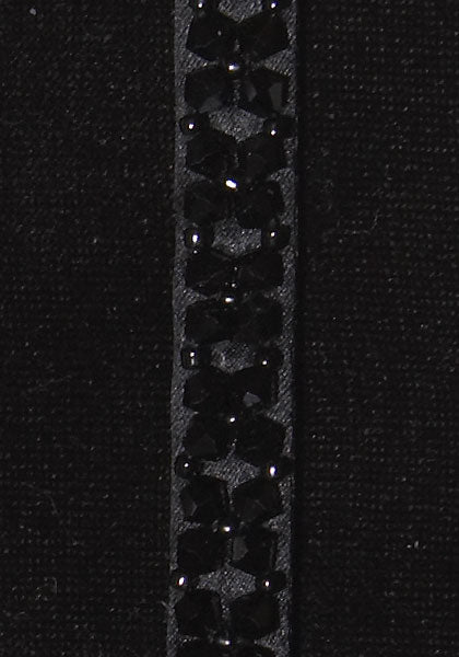 Crystal Jewel with Swarovski Crystals - Color : Black / Black