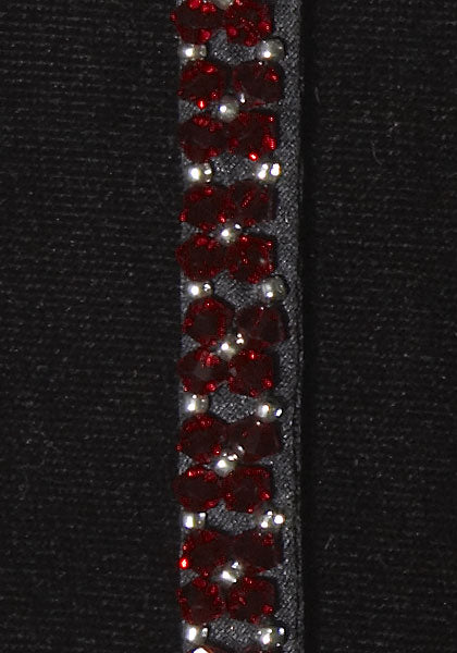 Crystal Jewel with Swarovski Crystals - Color : Red / Black
