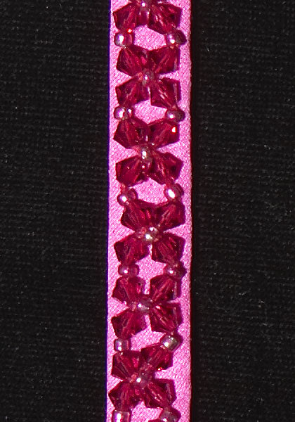 Crystal Jewel with Swarovski Crystals - Color : Fuchsia