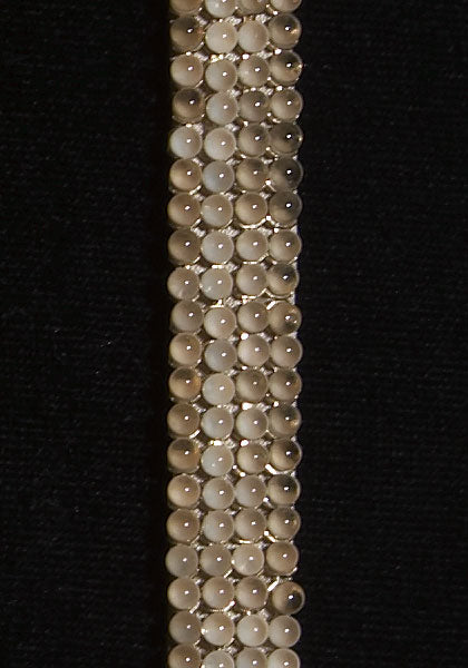 Pearl Mesh with Swarovski Crystals - Color : Beige