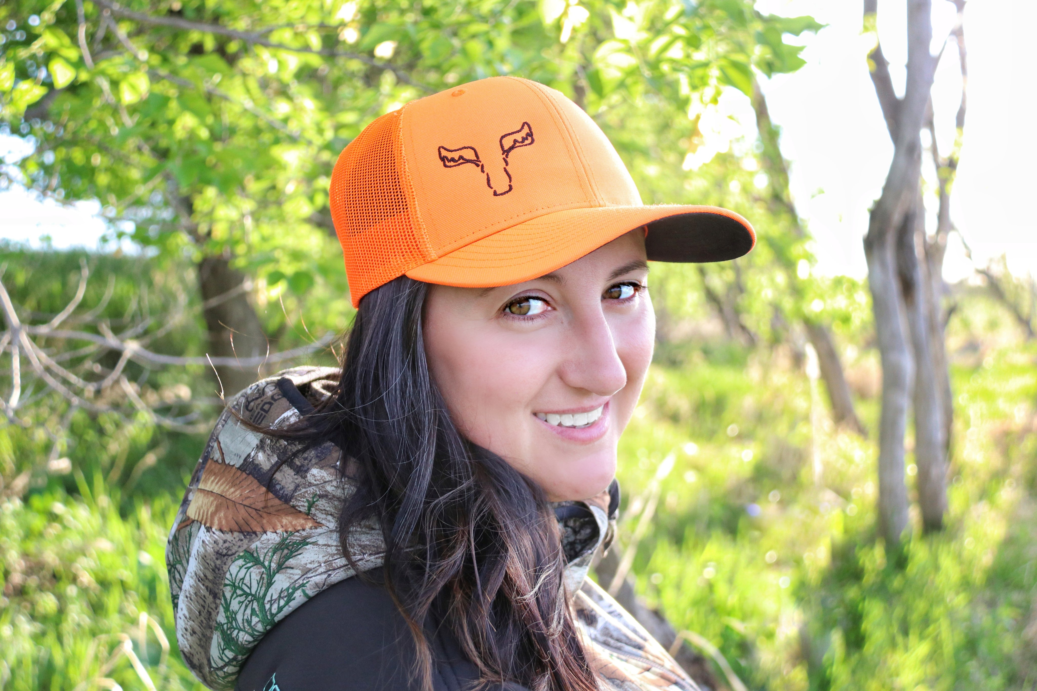 Right Embroidered Blaze Orange Panoramic Outdoors Hat
