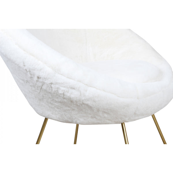 Faux Fur Boudoir Chair