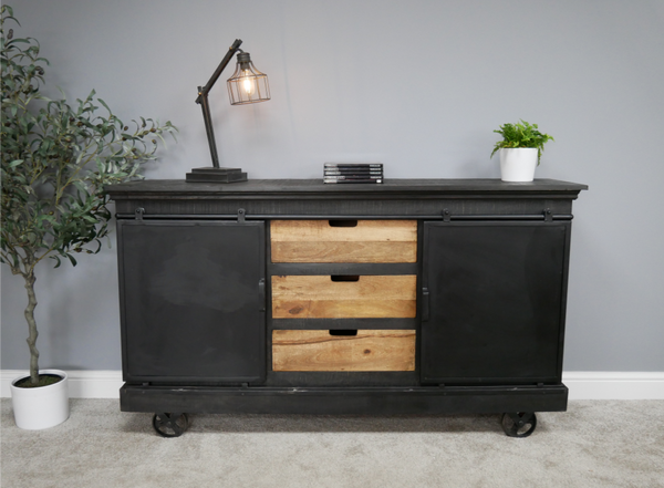 Large Iron Sideboard