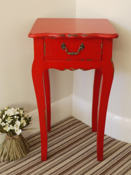 French Etienne Bedside Table Red,  - Olive and Sage, Olive and Sage  - 2